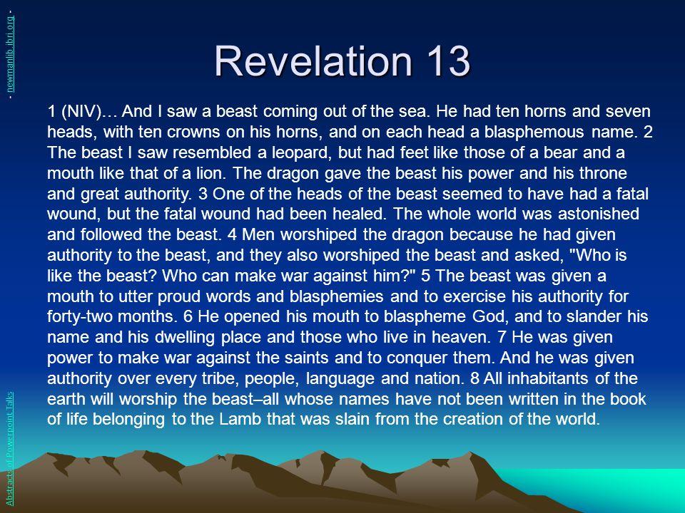 Revelation 13 - newmanlib.ibri.org -