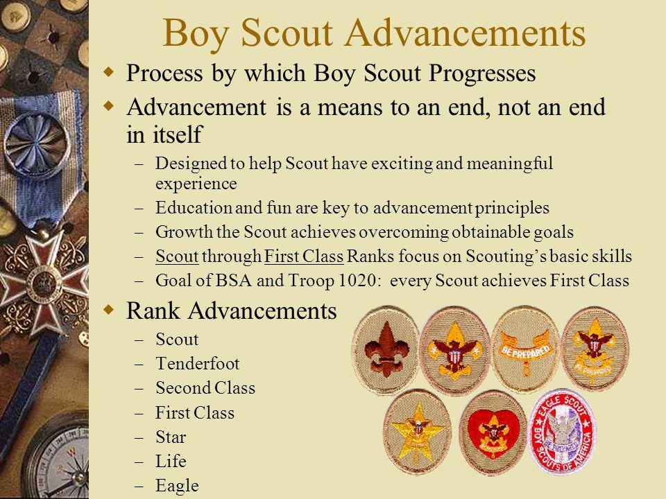 Boy Scout Advancements