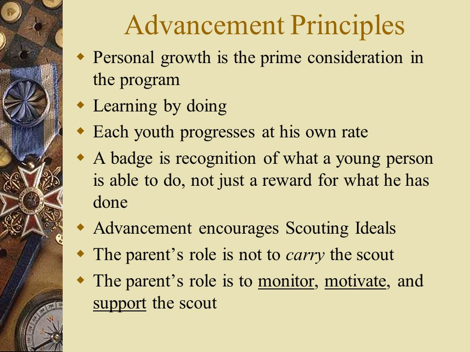 Advancement Principles