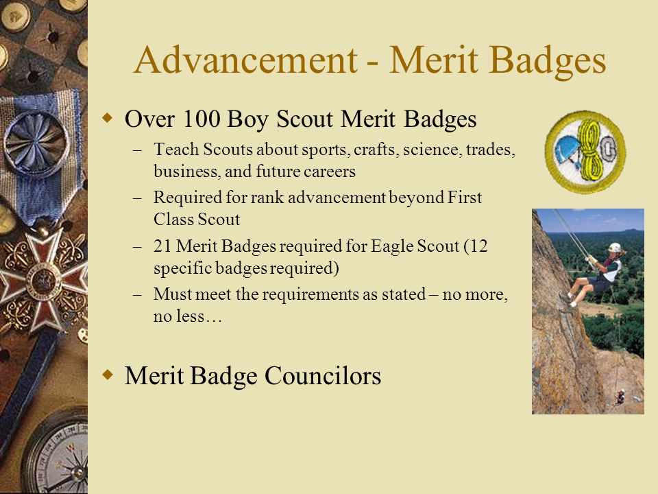 Advancement - Merit Badges