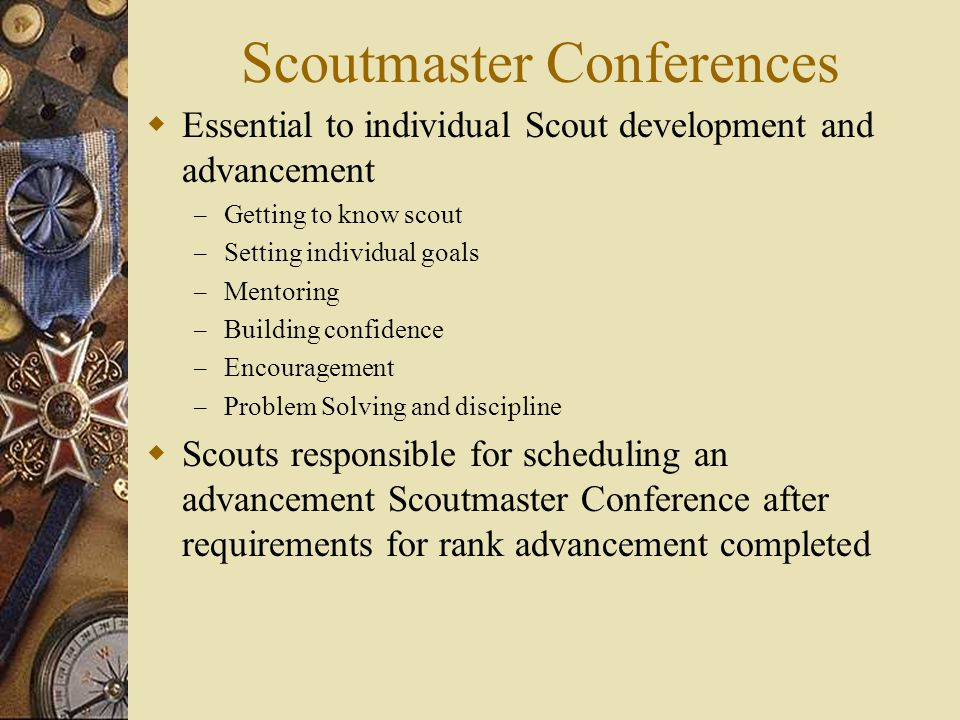 Scoutmaster Conferences