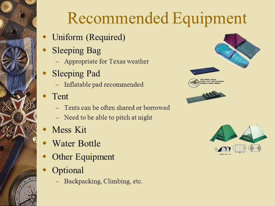 Recommended Equipment