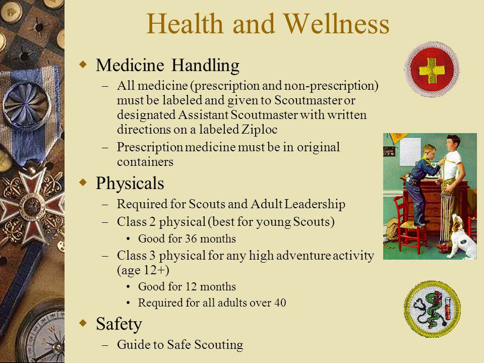 Health and Wellness Medicine Handling Physicals Safety