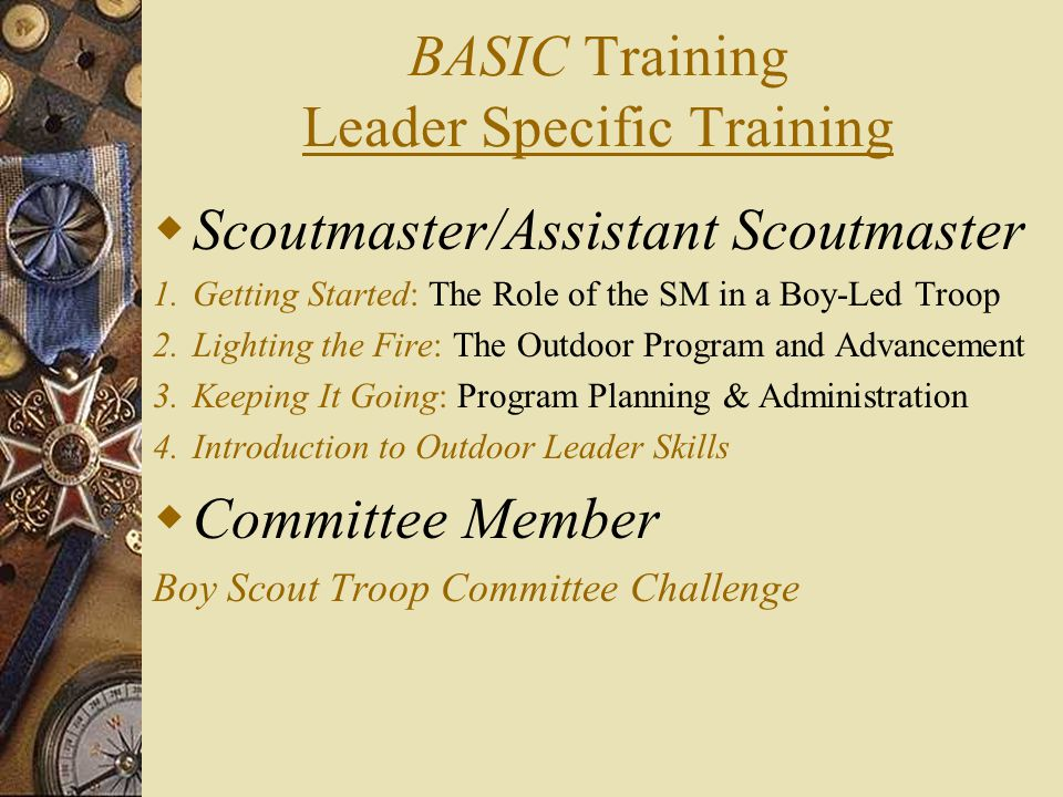 BASIC Training Leader Specific Training