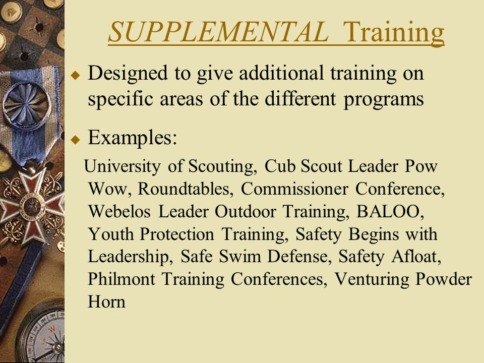 SUPPLEMENTAL Training