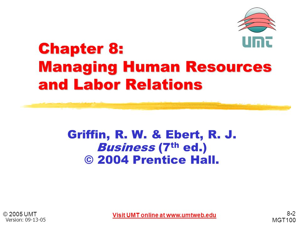 Chapter 8: Managing Human Resources and Labor Relations