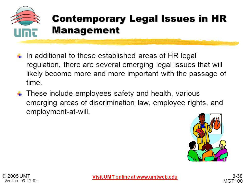 Contemporary Legal Issues in HR Management