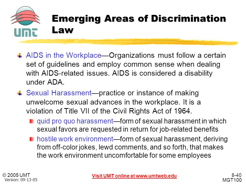 Emerging Areas of Discrimination Law