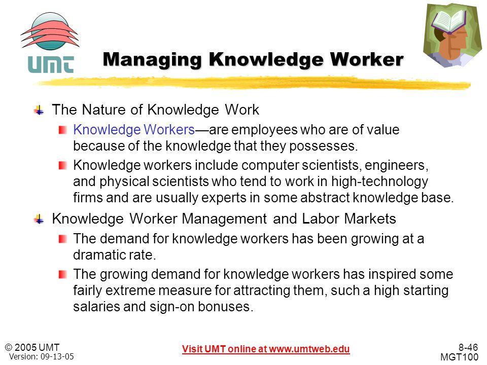 Managing Knowledge Worker
