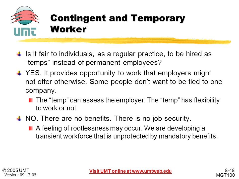 Contingent and Temporary Worker