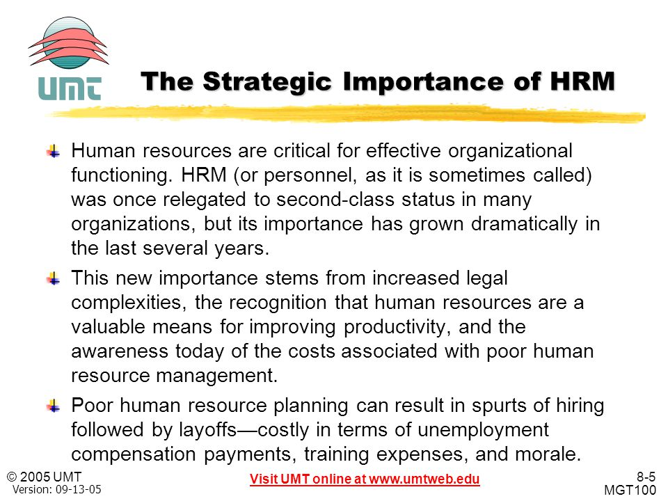 The Strategic Importance of HRM