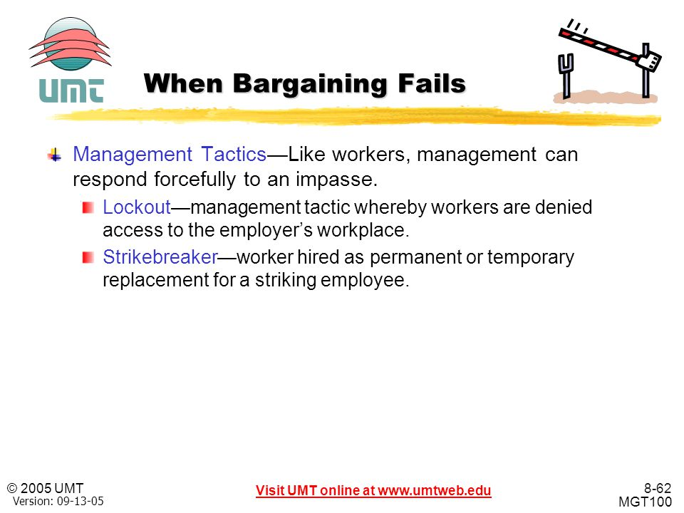 When Bargaining Fails Management Tactics—Like workers, management can respond forcefully to an impasse.