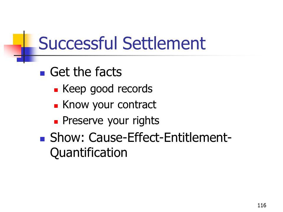 Successful Settlement