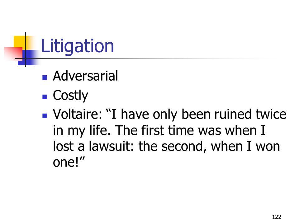 Litigation Adversarial Costly