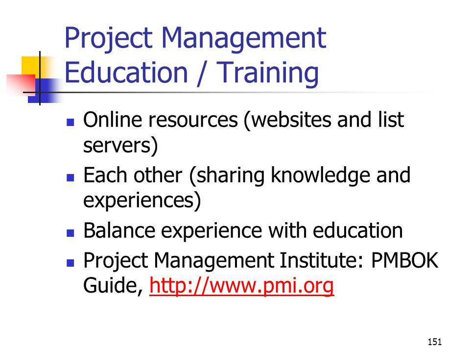 Project Management Education / Training