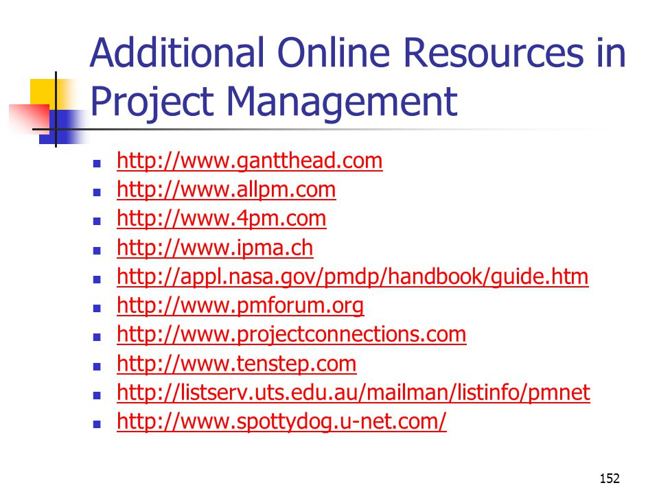 Additional Online Resources in Project Management