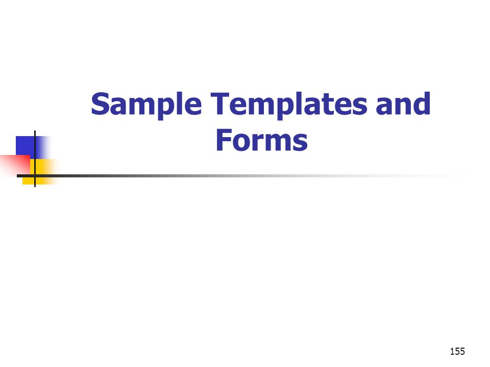 Sample Templates and Forms