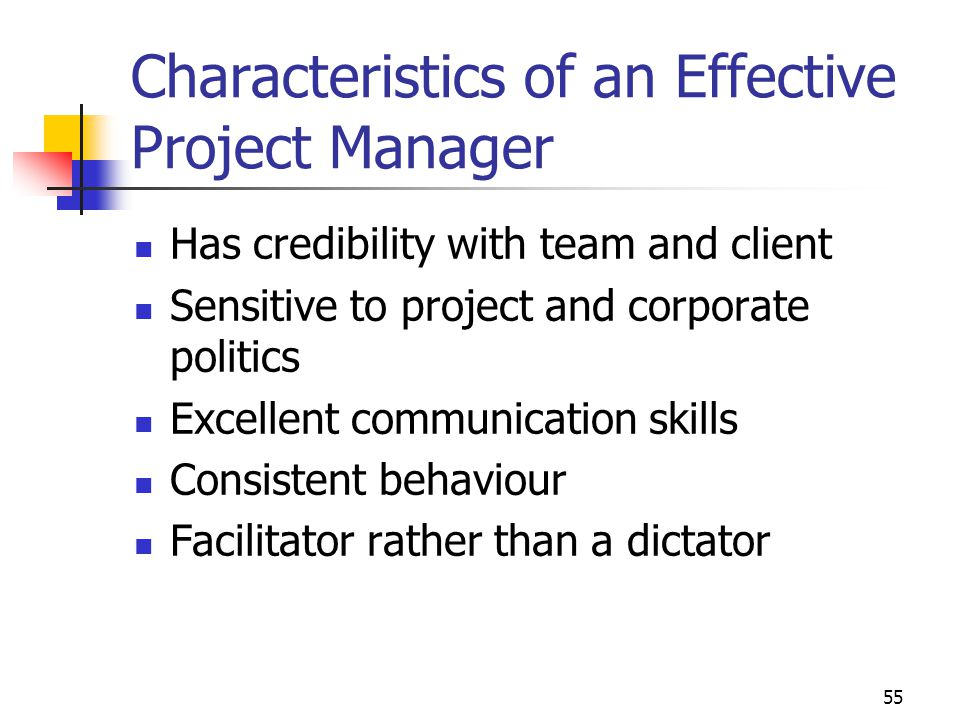 Characteristics of an Effective Project Manager