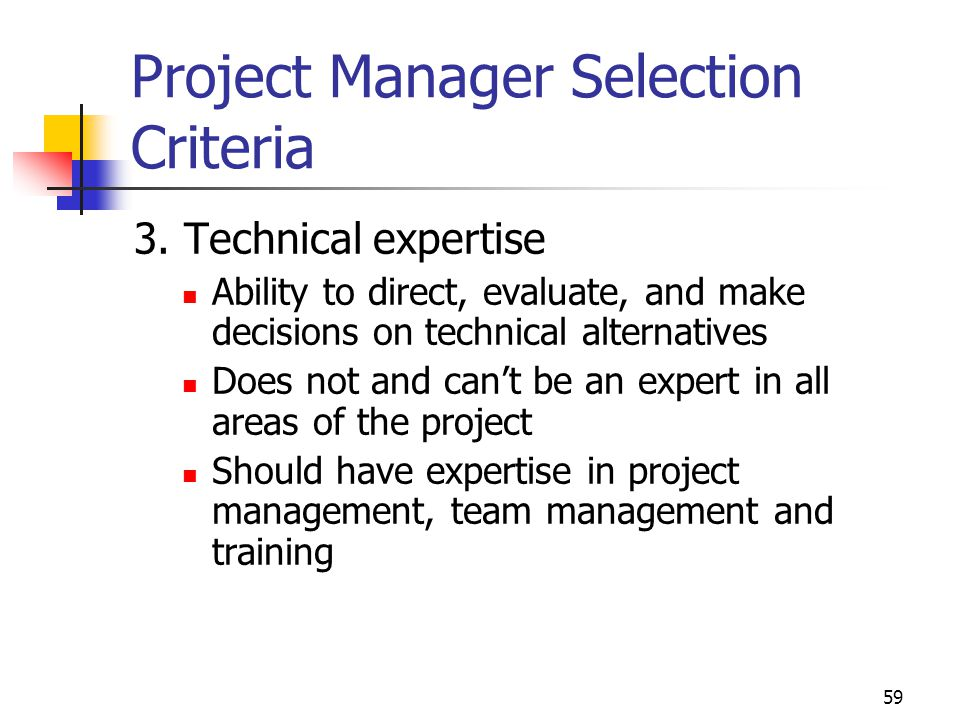 project management project selevtion Project selection methods  project management office (pmo), project selection committee, etc while evaluating the project they will evaluate many areas, such as: .