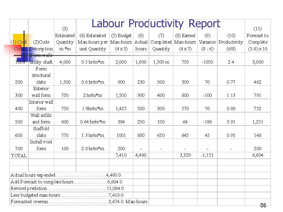 Labour Productivity Report