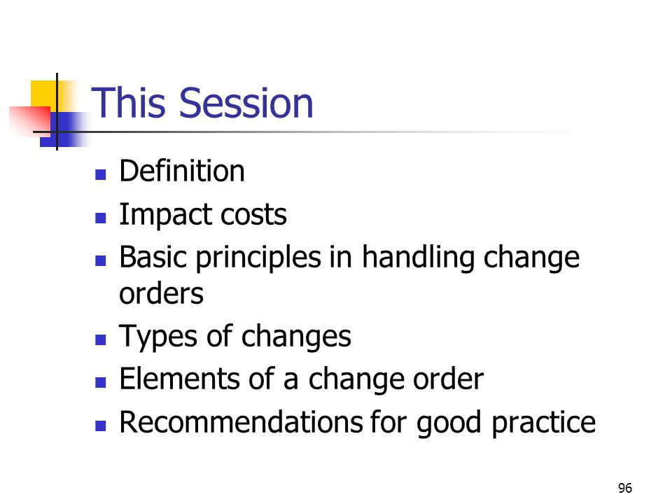 This Session Definition Impact costs