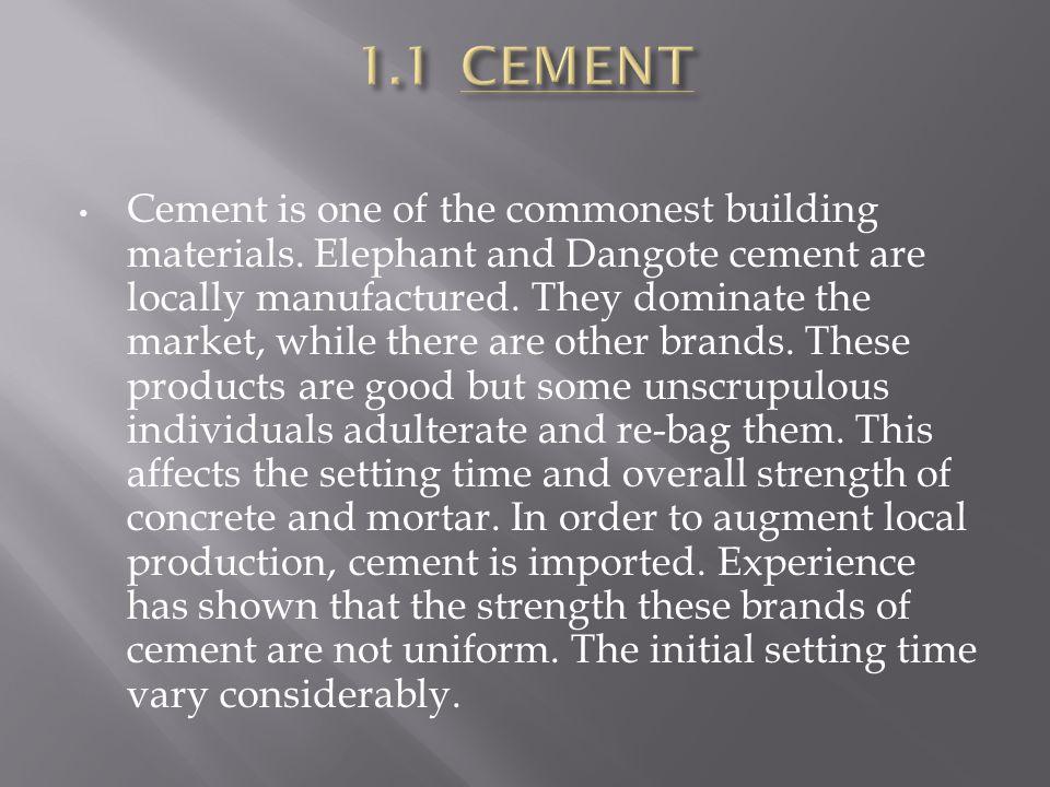 1.1 CEMENT