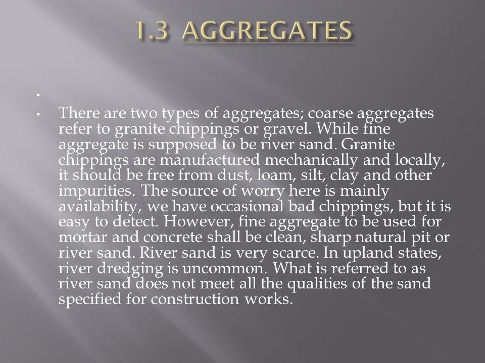 1.3 AGGREGATES