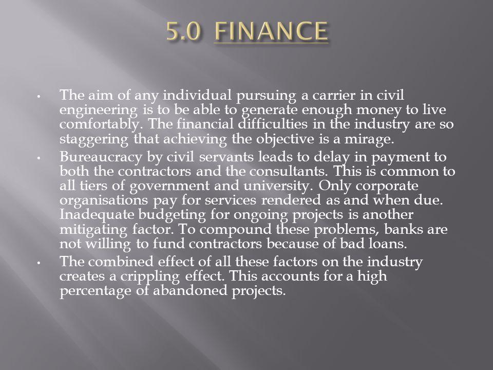 5.0 FINANCE