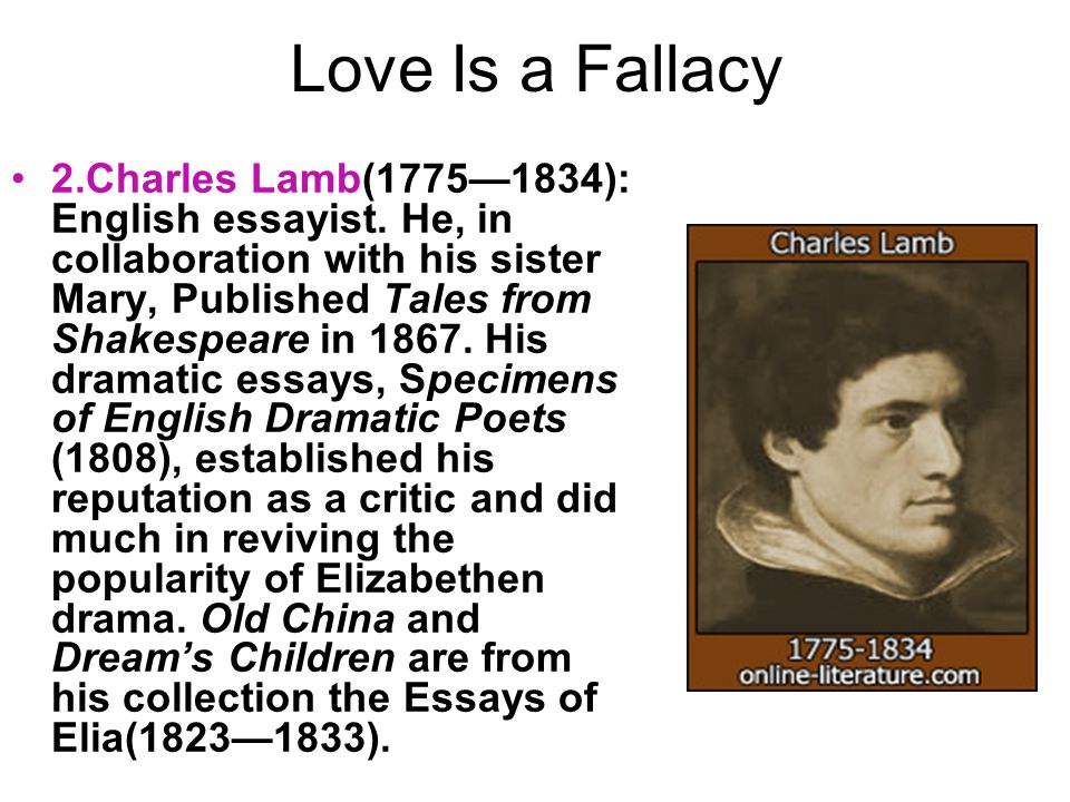 discuss charles lamb as a personal essayist Humour and pathos in charles lamb essays discuss humour and pathos in the essays of essays under the pseudonym elia for the personal and.
