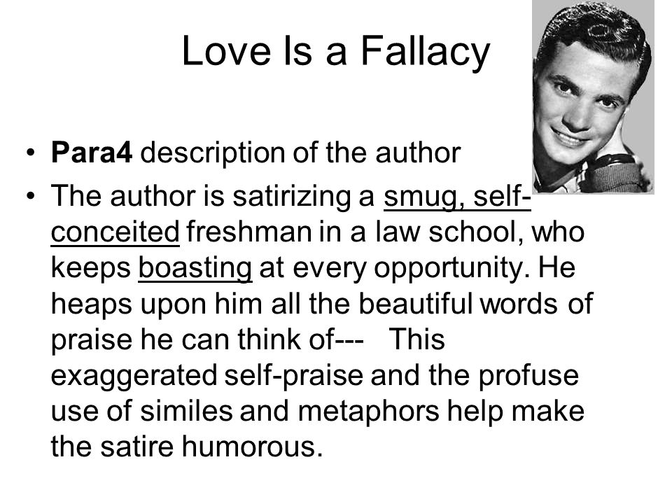 Love Is a Fallacy Para4 description of the author