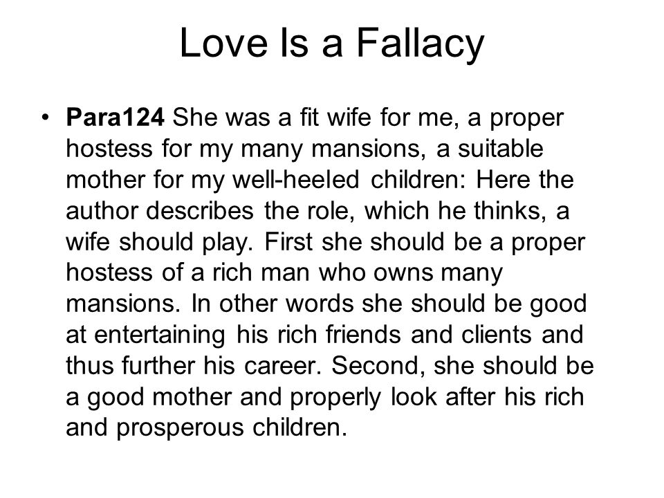 love is a fallacy by max shulman summary It is my decided opinion that max shulman's love is a fallacy is one of the  funniest and most clever short stories ever penned and if you.