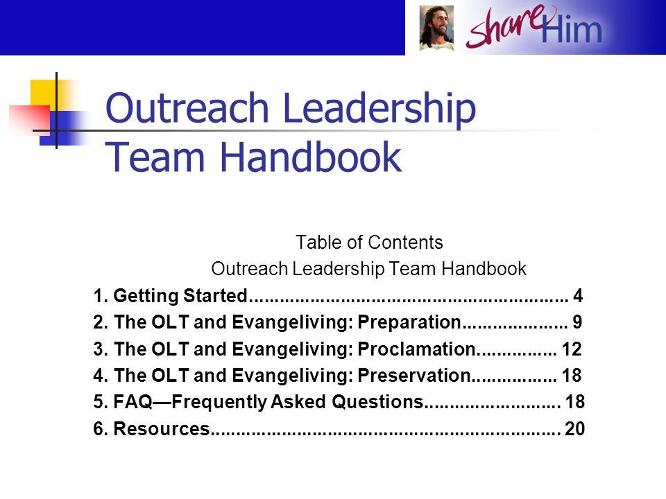 Outreach Leadership Team Handbook