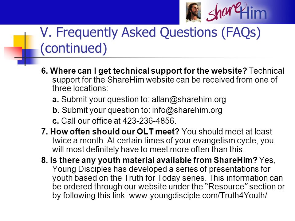 V. Frequently Asked Questions (FAQs) (continued)
