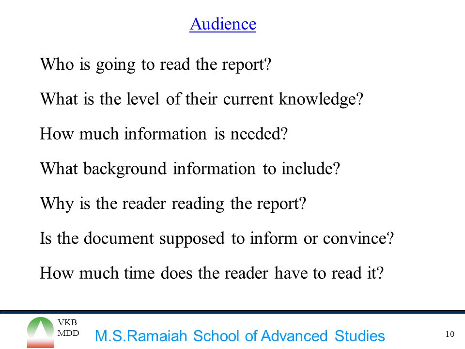 Who is going to read the report