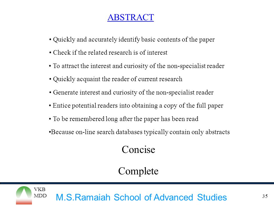 Concise Complete ABSTRACT