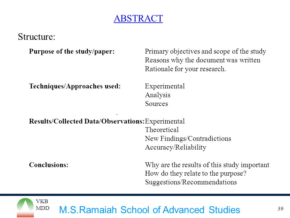 objectives of a research paper Effective learning objectives use action verbs to describe what you want your students to be describe the seven steps of the research process when writing a paper.