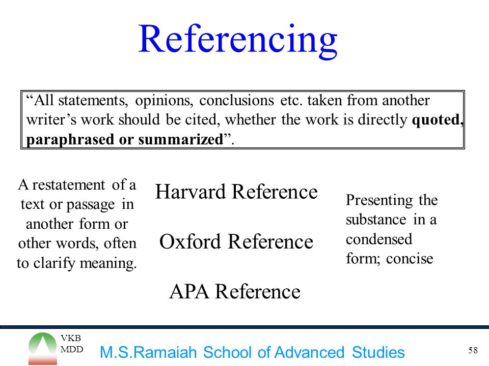 Referencing Harvard Reference Oxford Reference APA Reference