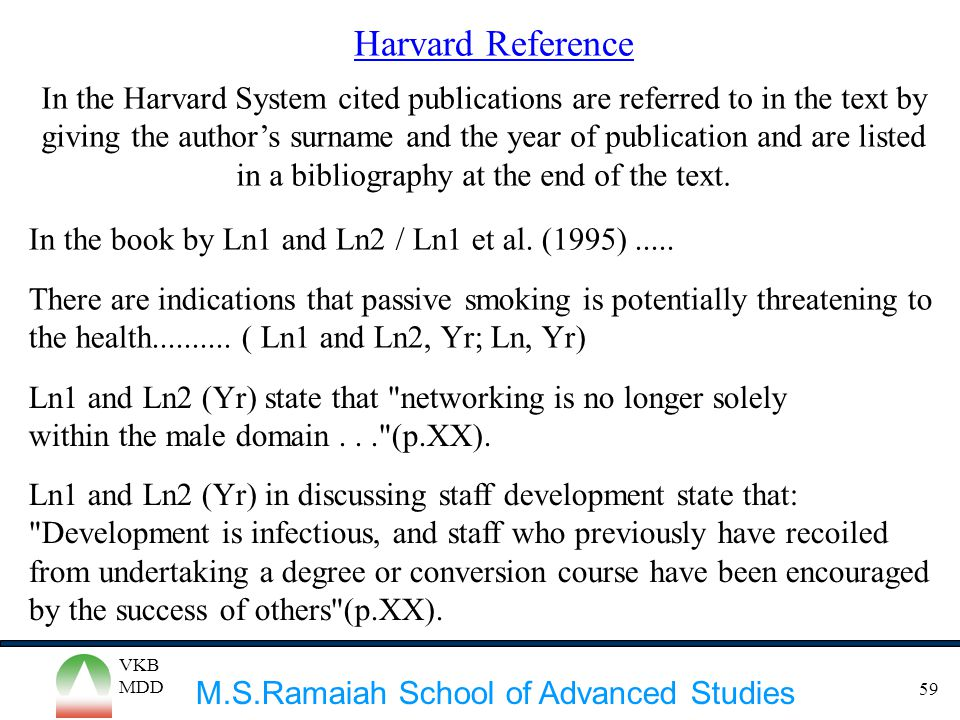 Harvard Reference