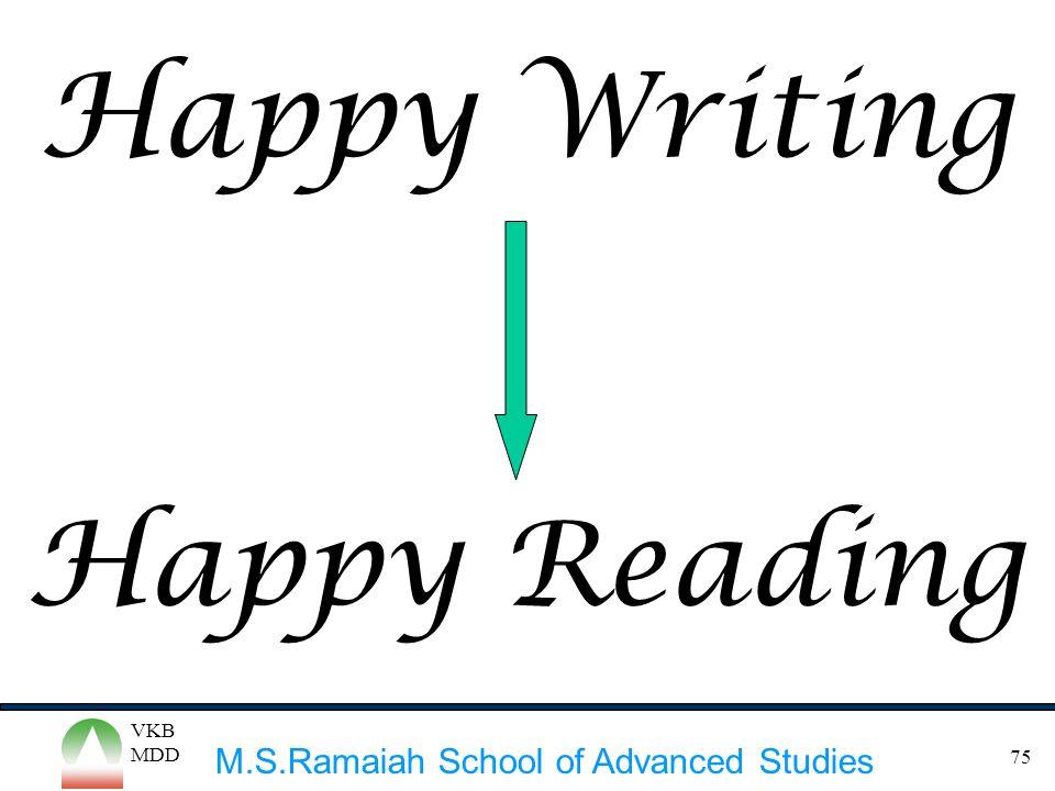 Happy Writing Happy Reading VKB MDD