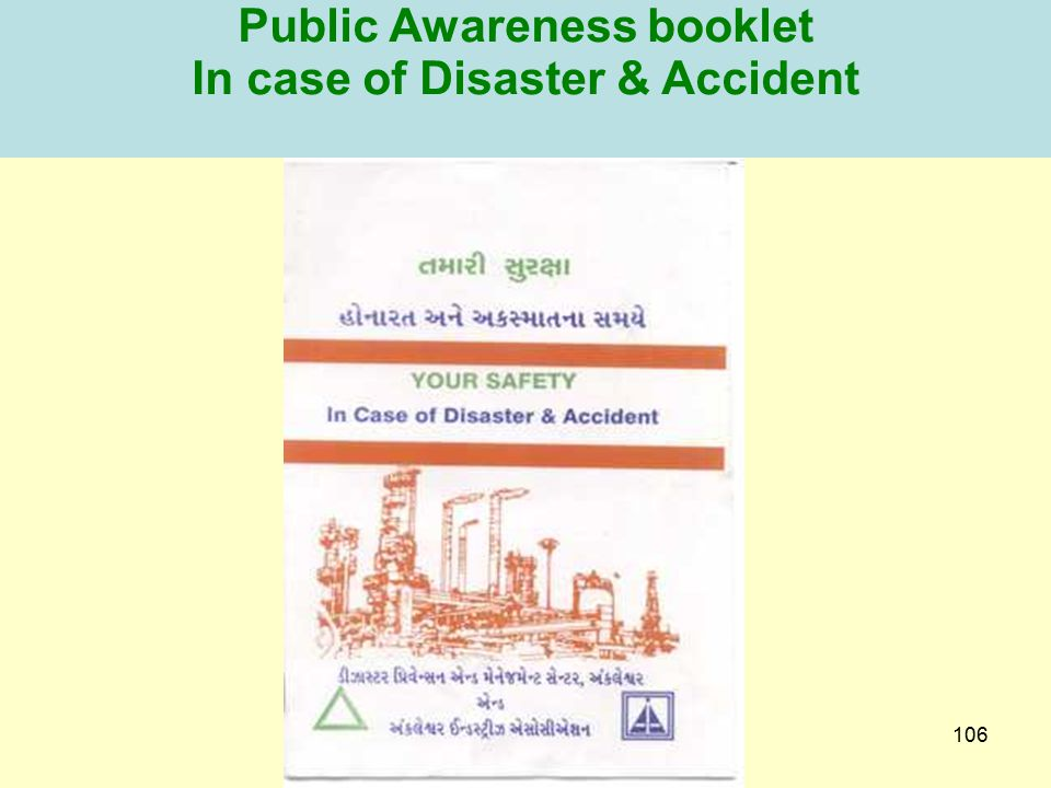 Public Awareness booklet In case of Disaster & Accident