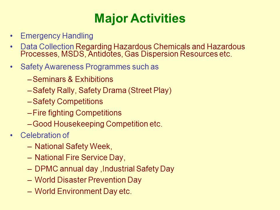 Major Activities Emergency Handling