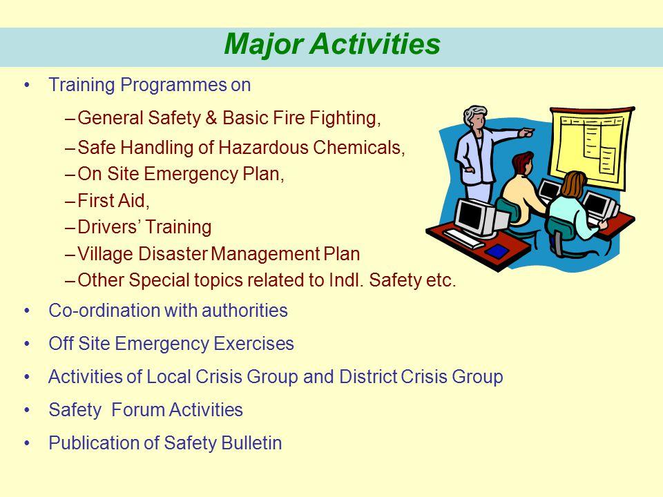 Major Activities Training Programmes on