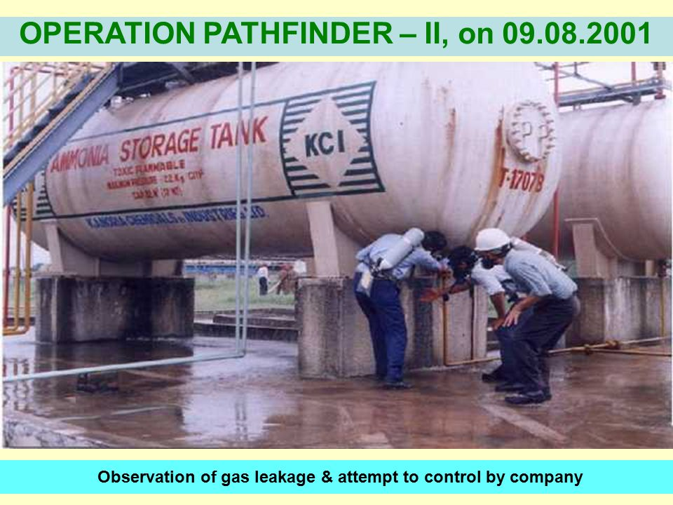Observation of gas leakage & attempt to control by company