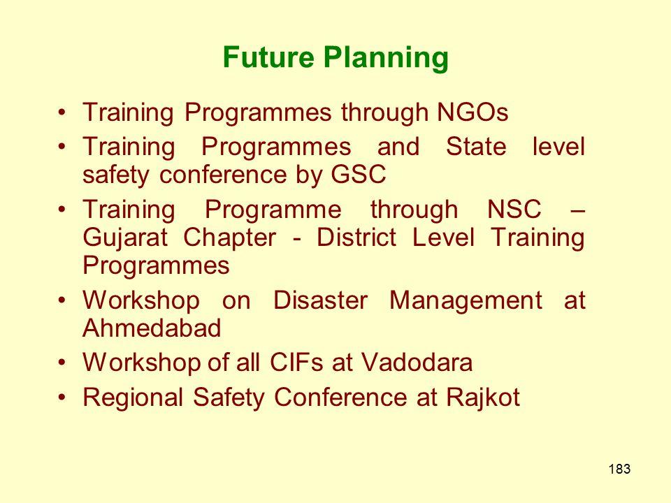 Future Planning Training Programmes through NGOs
