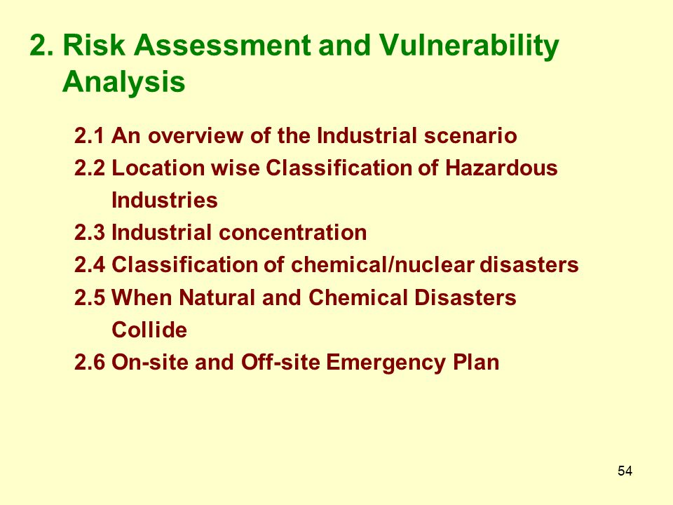 2. Risk Assessment and Vulnerability Analysis