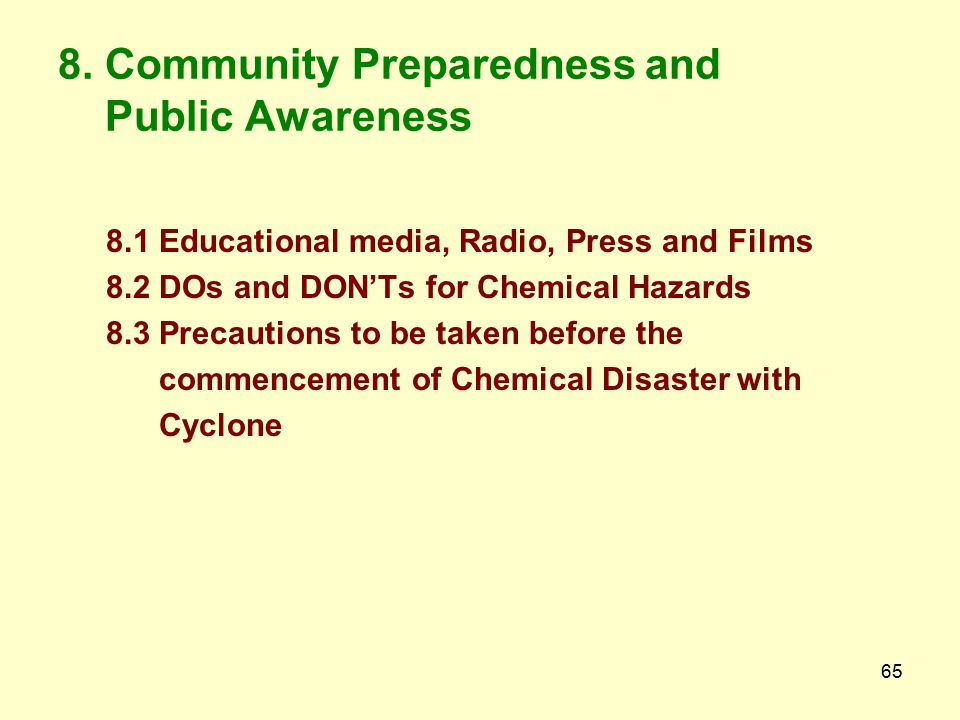 8. Community Preparedness and Public Awareness