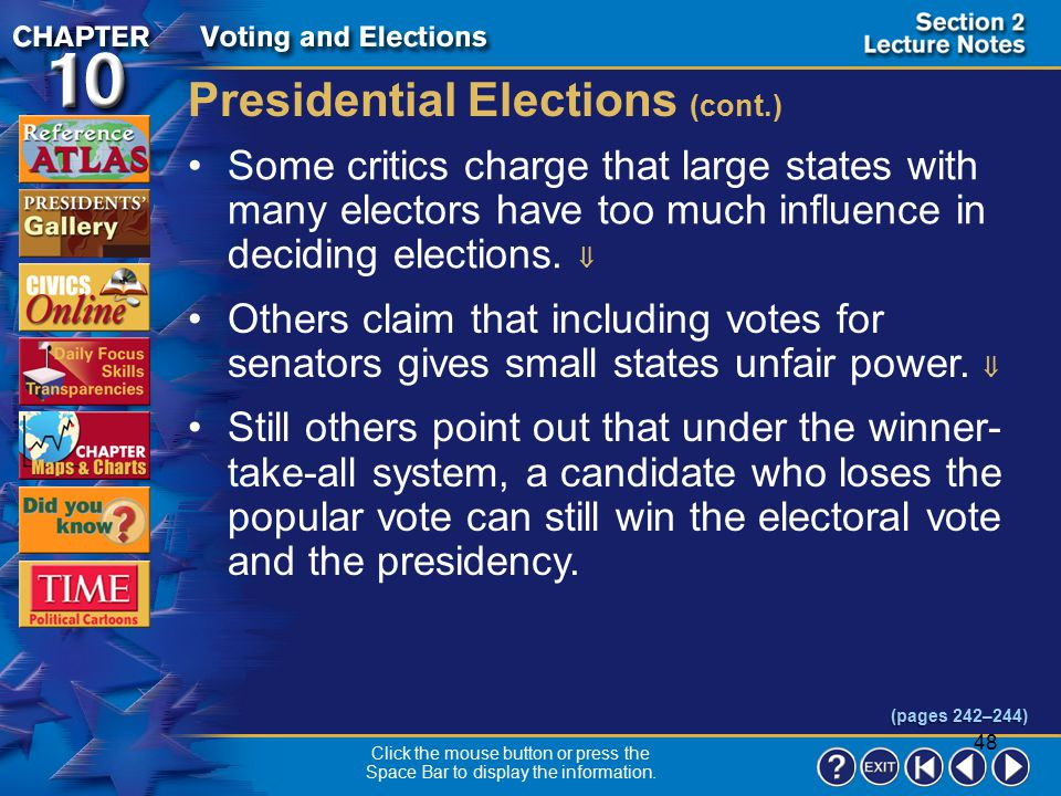 Presidential Elections (cont.)