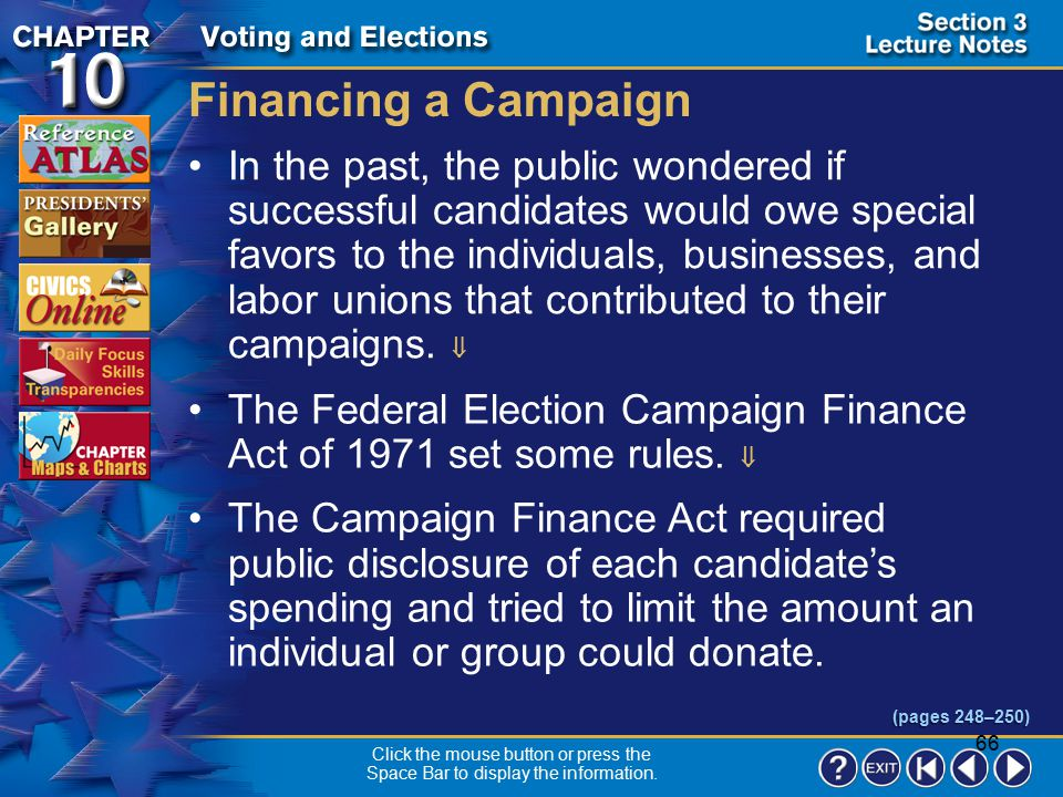 Financing a Campaign