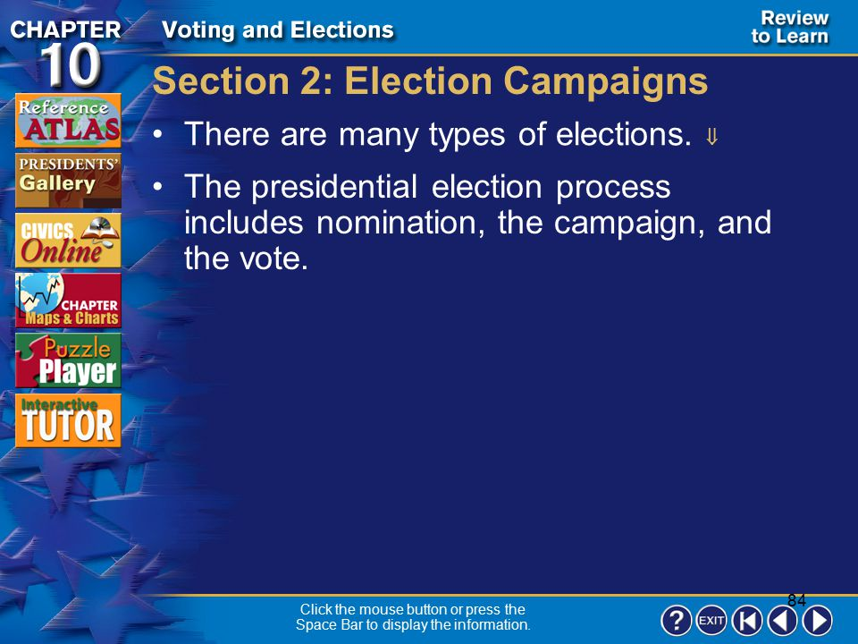 Section 2: Election Campaigns