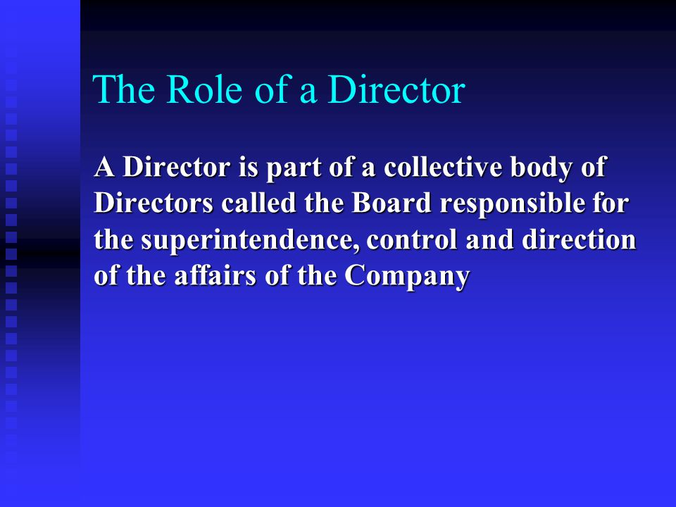 The Role of a Director